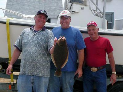 Christopher Seffrin on fishing cruise.