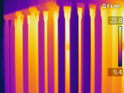 Infrared Electrical Survey, IR image of transformer, IR Electrical Survey in Philadelphia