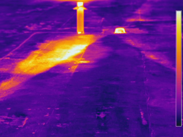 Infrared Roof Survey, IR image of roof moisture, IR Flat Roof Survey in New Jersey